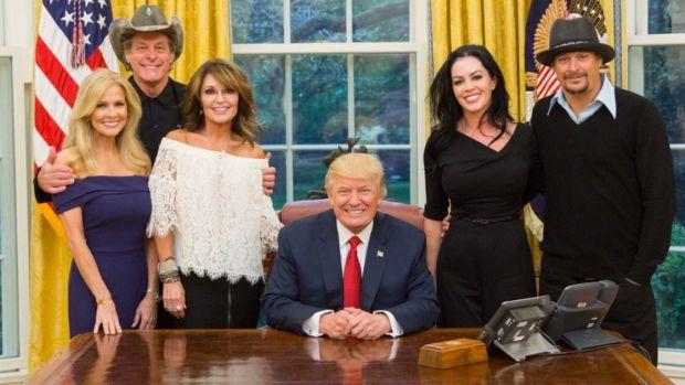 Donald Trump Sarah Palin Kid Rock Ted Nugent
