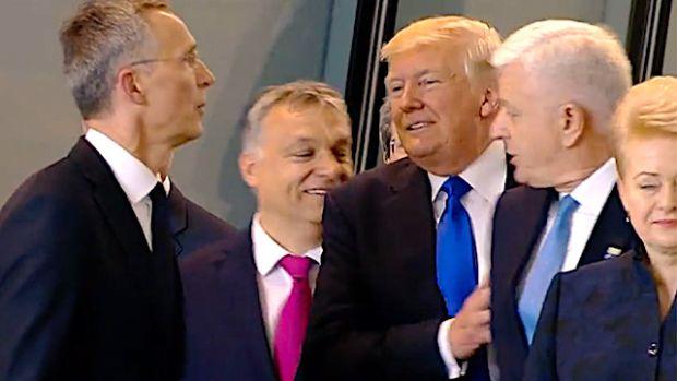 trump shoving