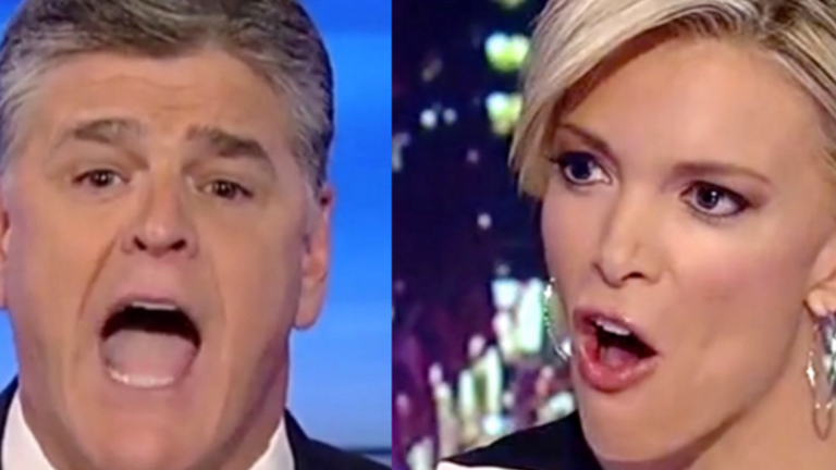 Trump Ass-Kisser Sean Hannity Continues His Nervous Breakdown by Going on the Attack Against... Megyn Kelly?