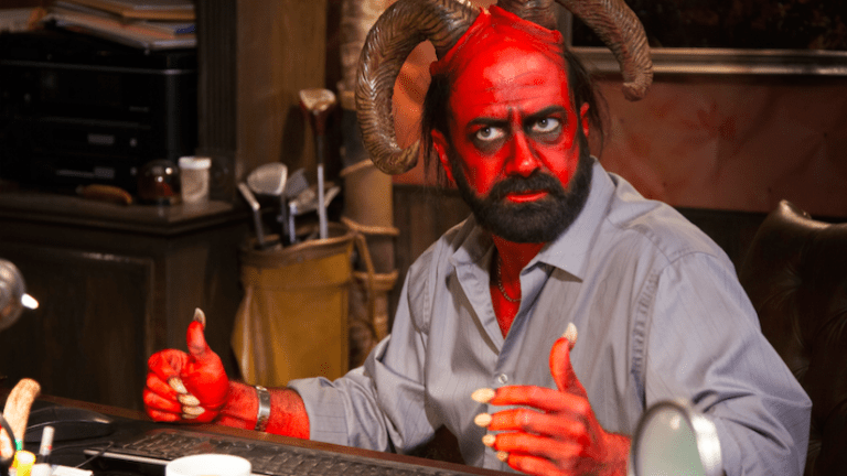 Satan Puts In Emergency Late Night Call to Trump