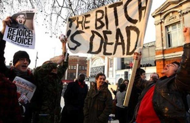 Thatcher death party