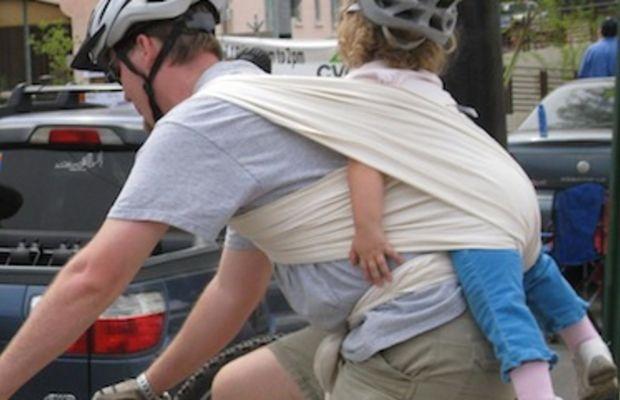 Annoying cyclist