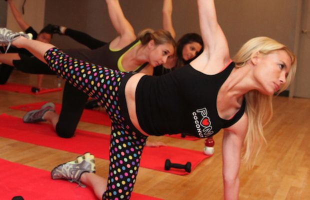 Tracy Anderson Trains With POM Coconut