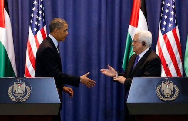 U.S. President Obama and Palestinian Pr
