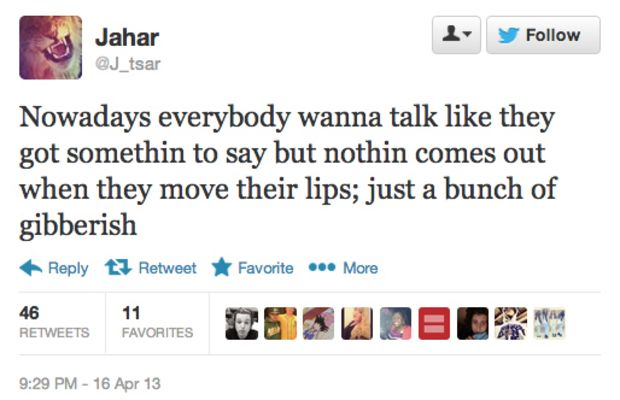 """He tweeted this Eminem lyric from """"Forgot About Dre"""" one day after the bombing."""