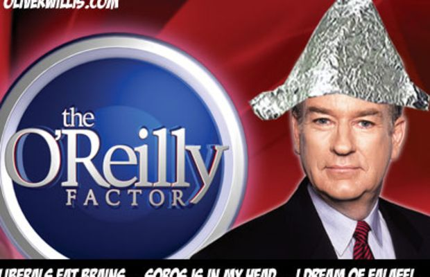 bill o'reilly's tinfoil hat of freedom