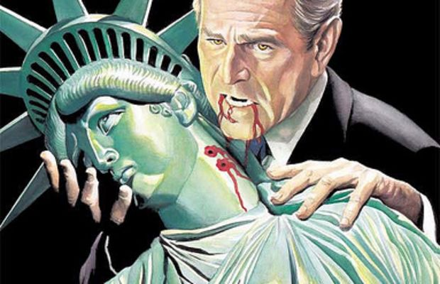 Bush vampire by Alex Ross