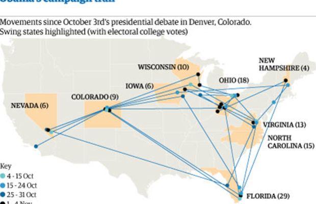 Obama's campaign trail