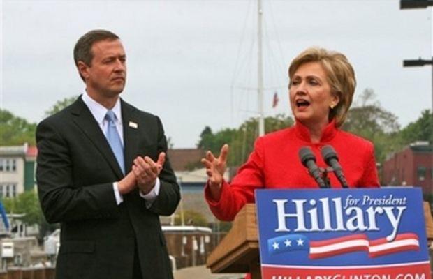Hillary Clinton and Maryland Gov. Martin O'Malley
