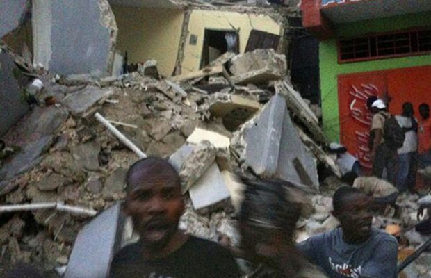 People flee for safety in the throws of Haiti's earthquake that registered at 7.0. The country experienced tremendous damage to the capital Port-au-Prince and other areas. by Pan-African News Wire File Photos.