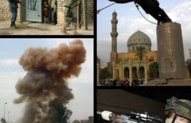 Collage of images taken by U.S. military in Ir...