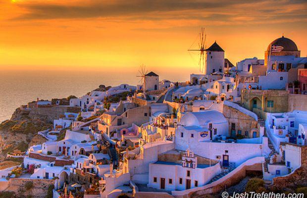 Summer Lovers :: Oia, Santorini, Greece by JoshTrefethen.com.