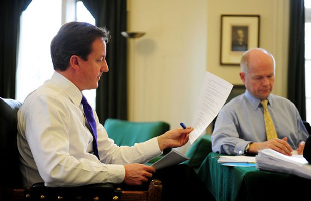 David Cameron works on his Europe speech by conservativeparty.