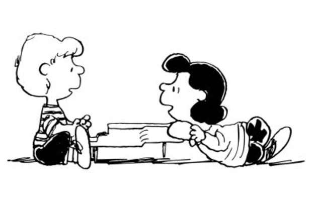 lucy and schroeder from peanuts