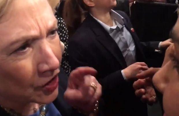Hillary Clinton and Greenpeace activist