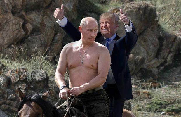 Putin and his understudy.