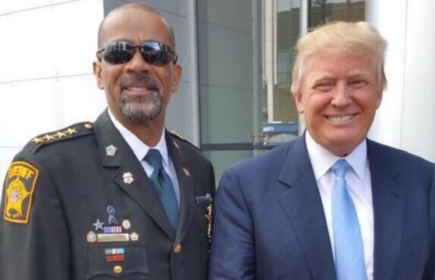 Sheriff David Clarke with Donald Trump. Photo via Right Wisconsin