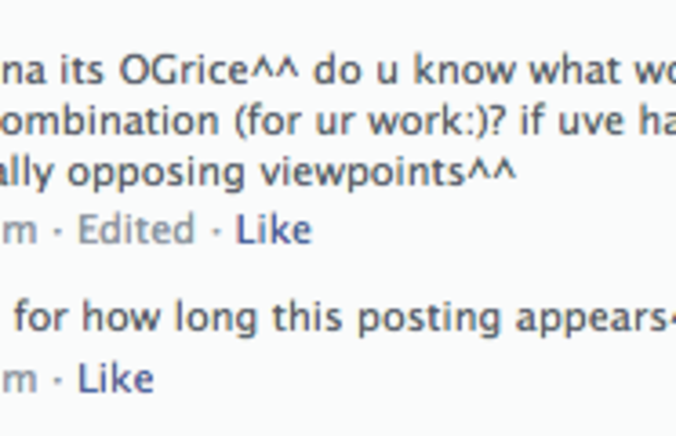 Facebook offensive