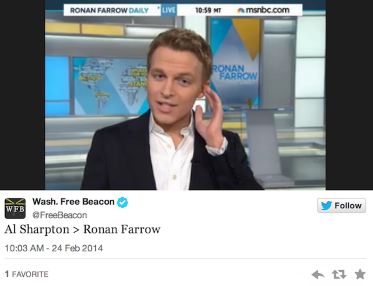 Quote of the Day: Ronan Farrow...