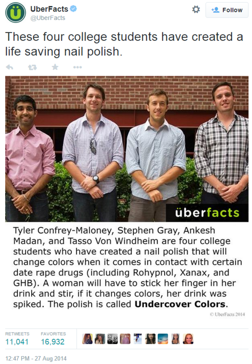 UberFacts on TwitterThese four college