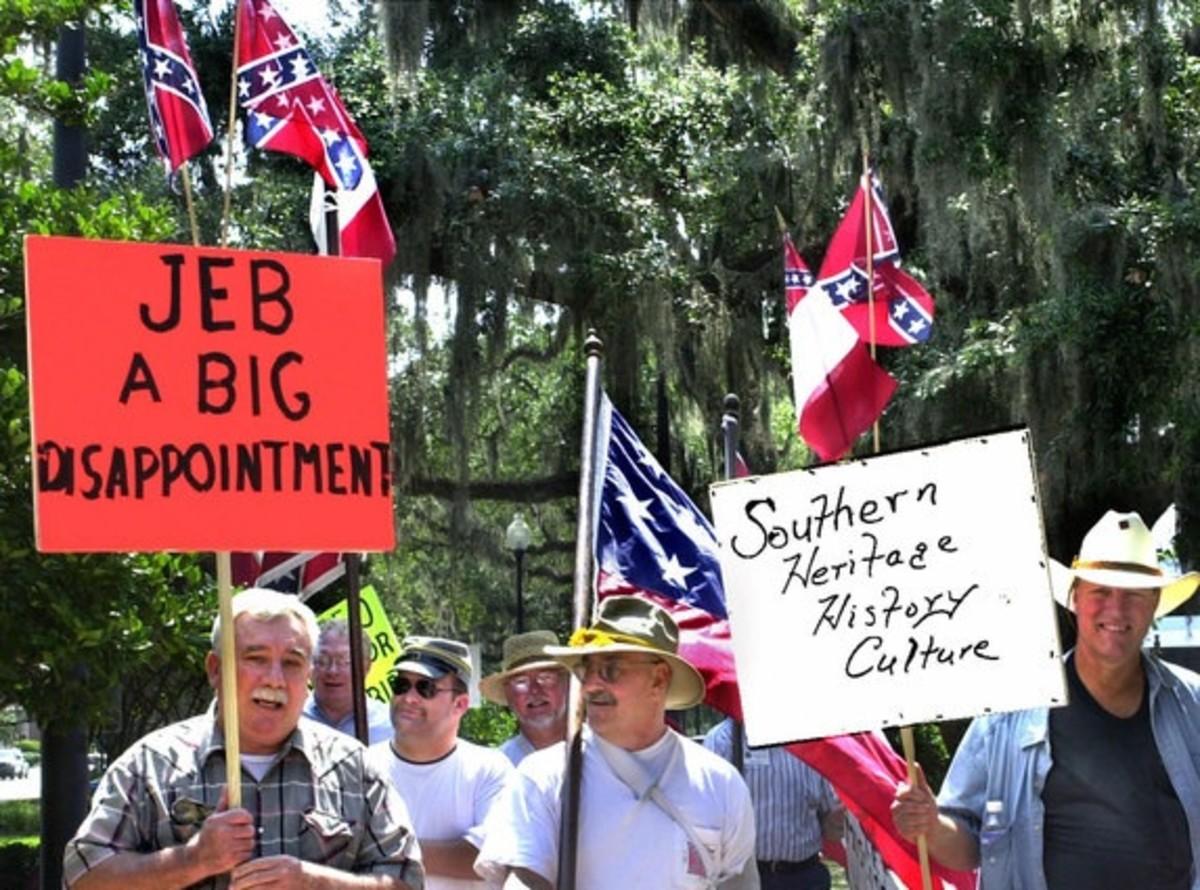 bush confederate flag