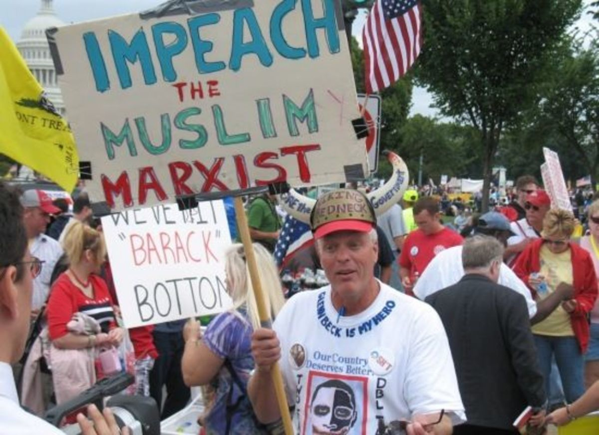 teabagger- Impeach Muslim Marxist