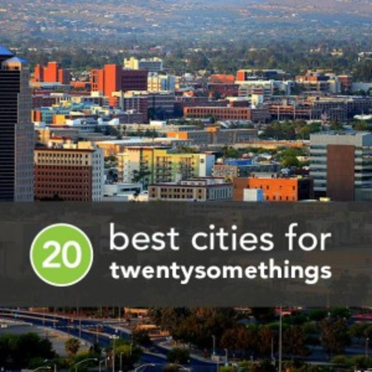 The 20 Best Cities for Twentysomethings