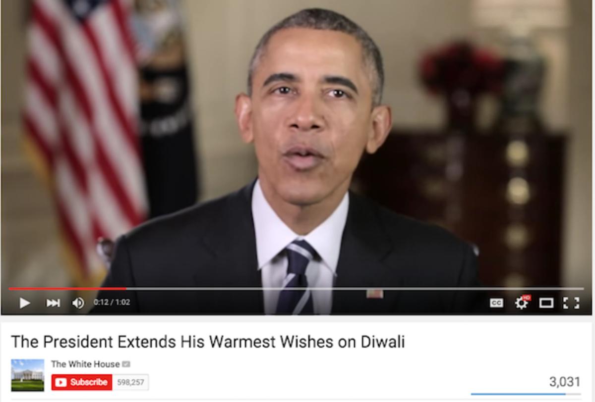 Obama Diwali