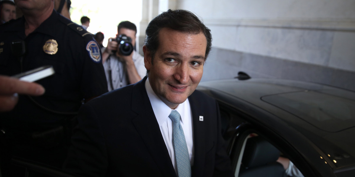 Sen. Ted Cruz (R-TX) Pulls All Nighter