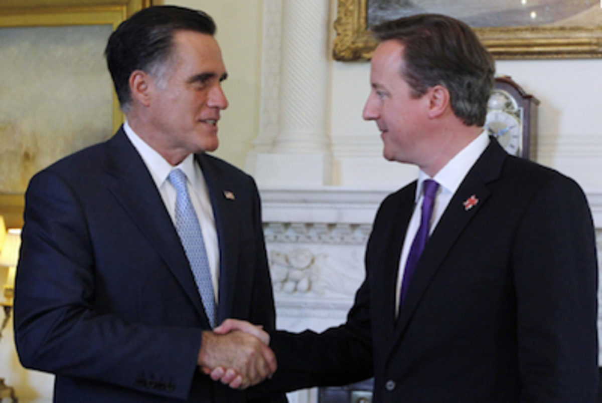 Mitt Romney David Cameron