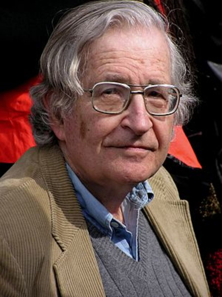 A portrait of Noam Chomsky that I took in Vanc...