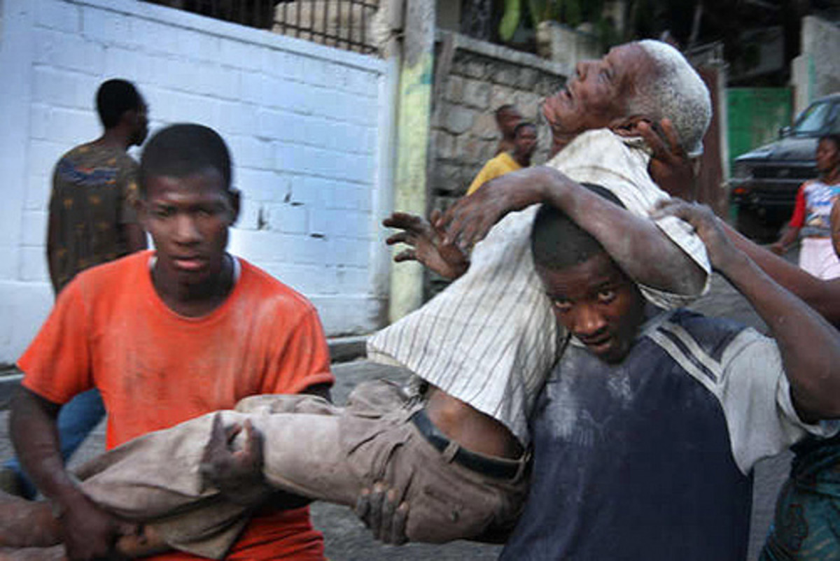 Earthquake in Haiti by American Red Cross.