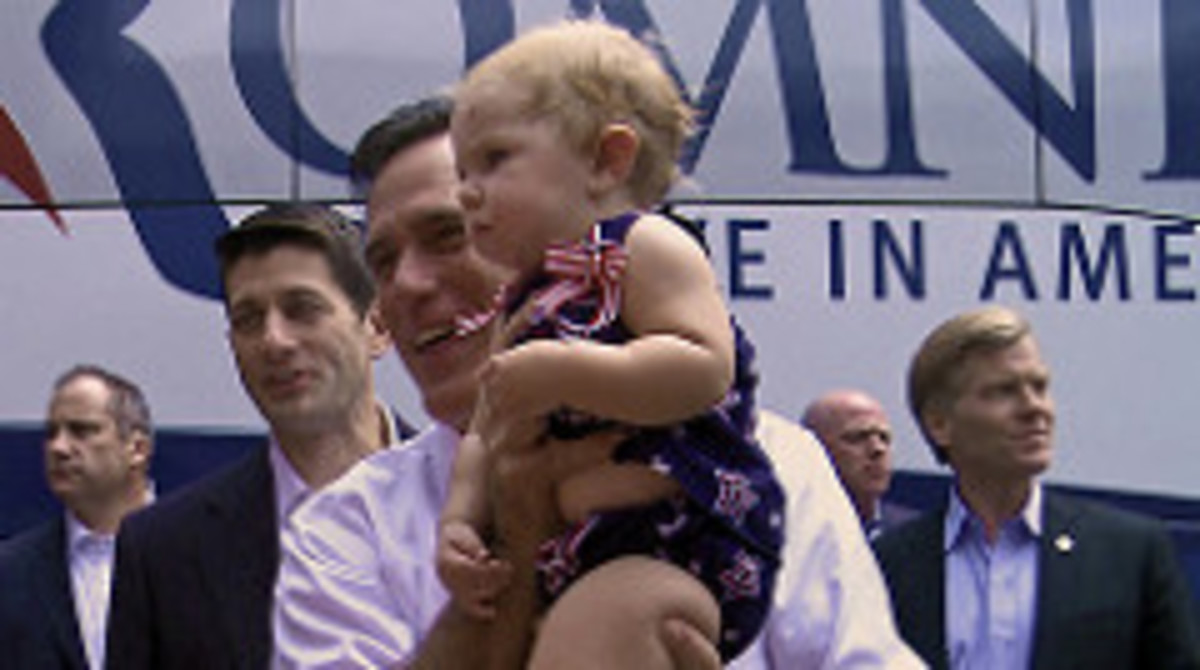 Mitt Romney and Paul Ryan in Ashland today