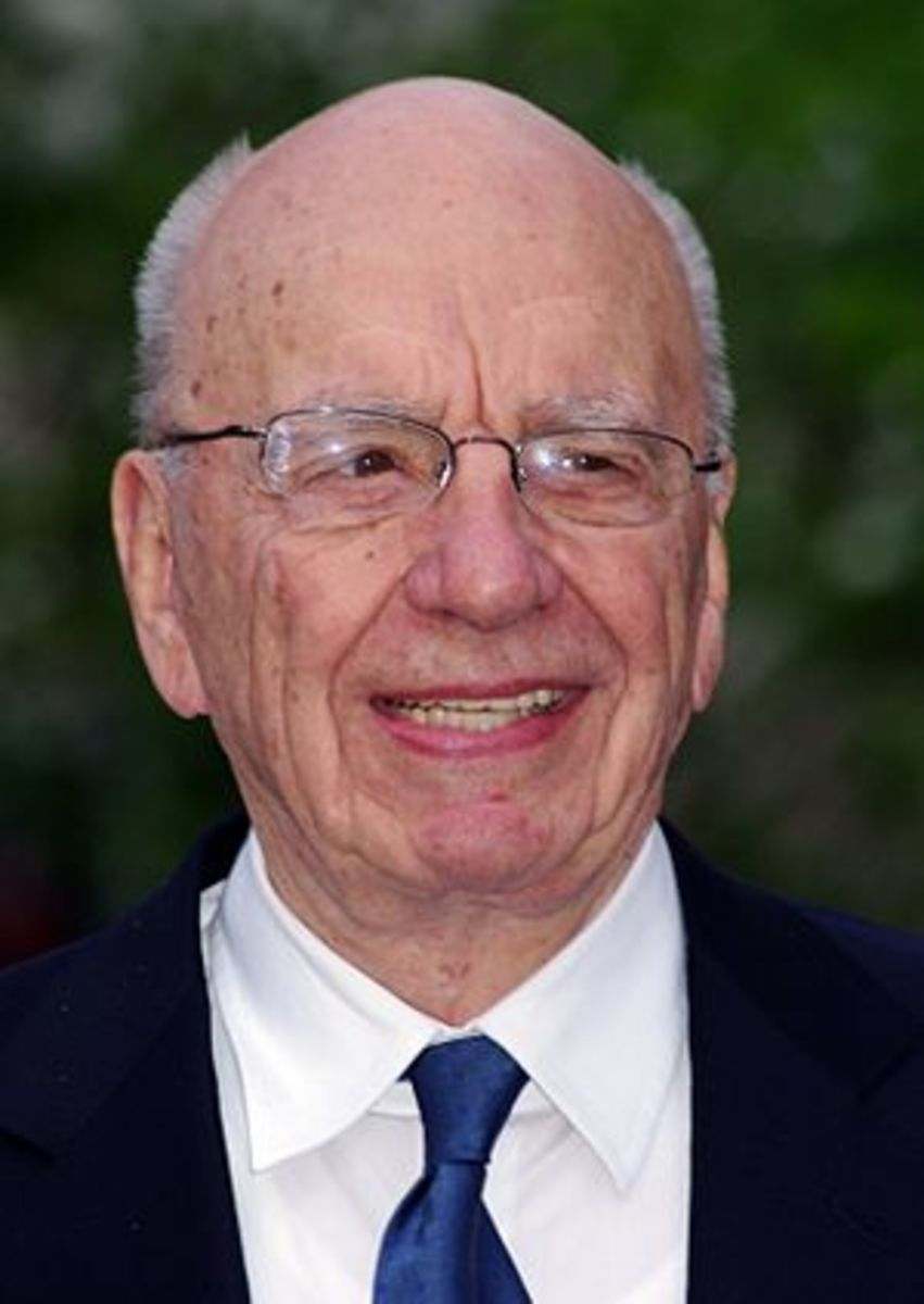 Rupert Murdoch at the Vanity Fair party celebr...