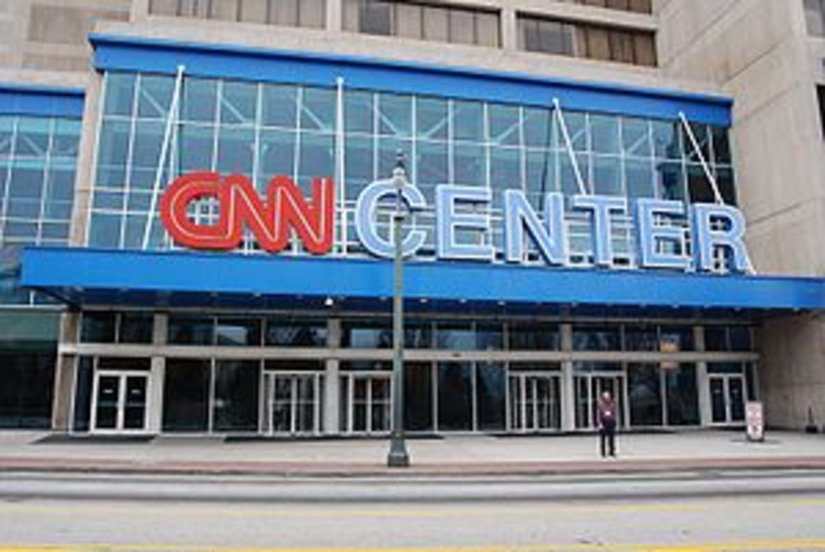 The CNN Center in Atlanta.