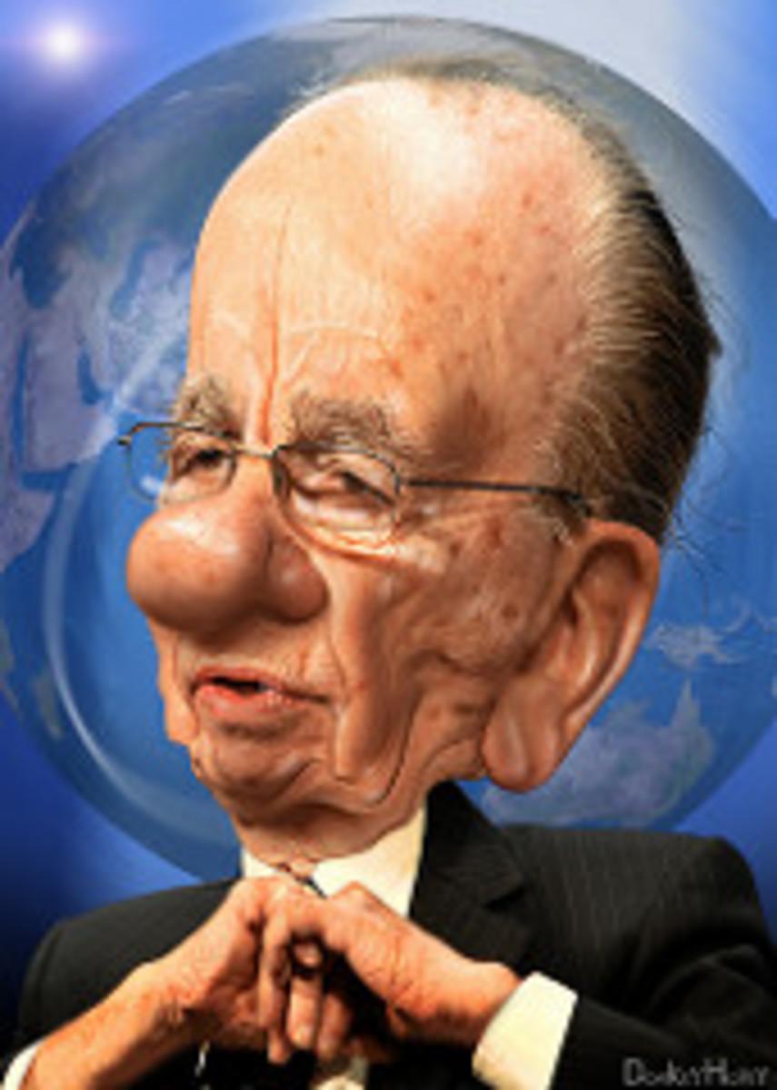 Rupert Murdoch - Caricature