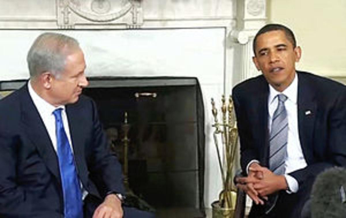 President Barack Obama and Israeli Prime Minis...