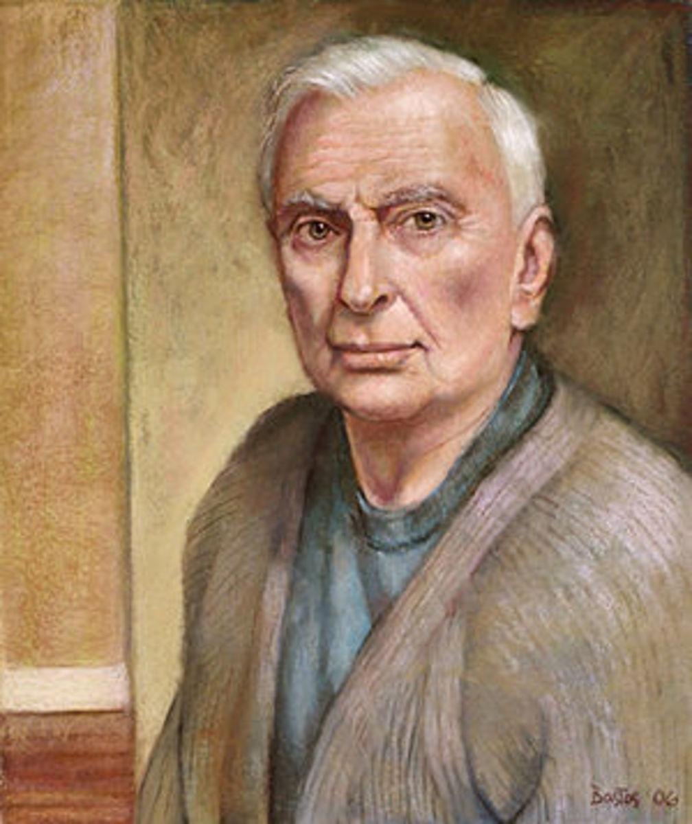 English: Portrait of Gore Vidal by Juan F. Bastos