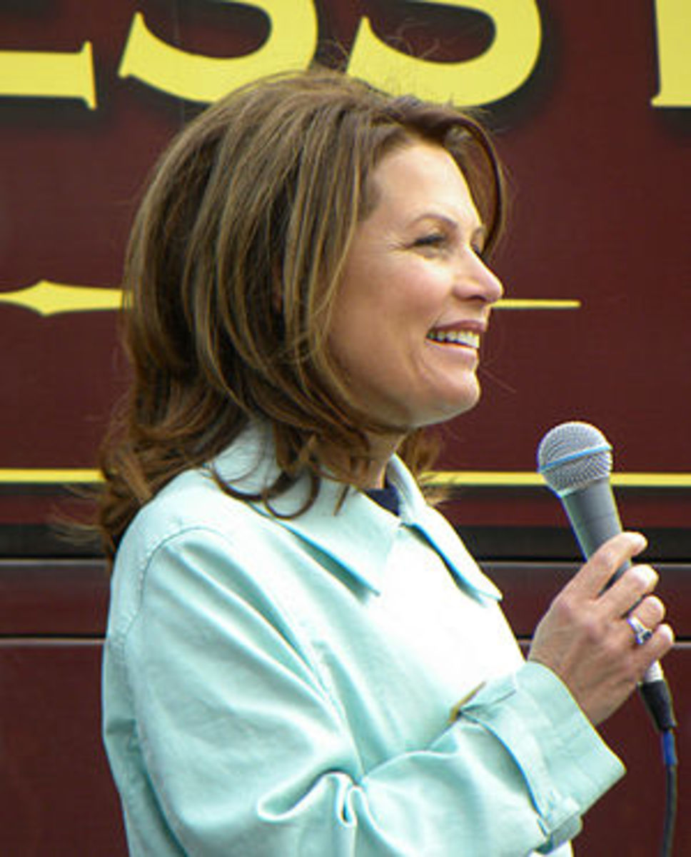 English: US Representative Michele Bachmann (R...