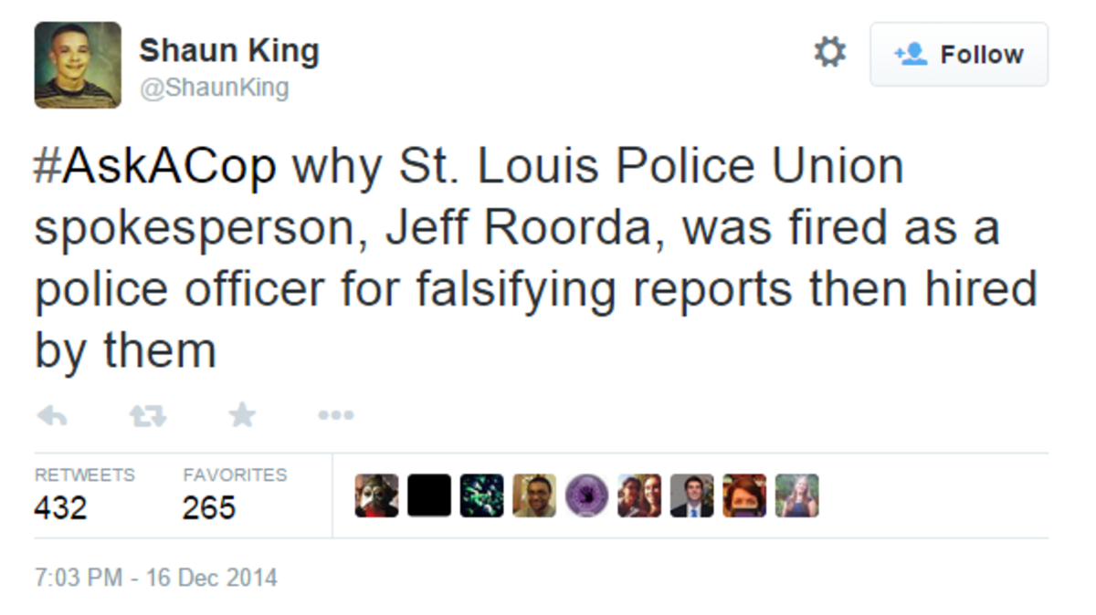 Shaun King on Twitter#AskACop why St. L