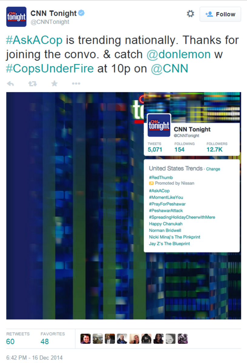 CNN Tonight on Twitter#AskACop is trend