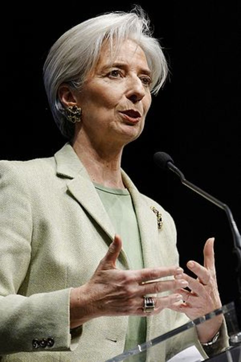 English: Christine Lagarde at a UMP rally for ...