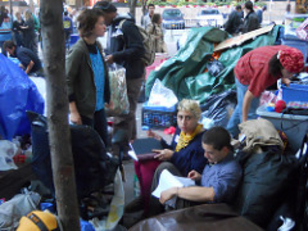 Occupy Wall St. Protest in Zucotti Park Octobe...