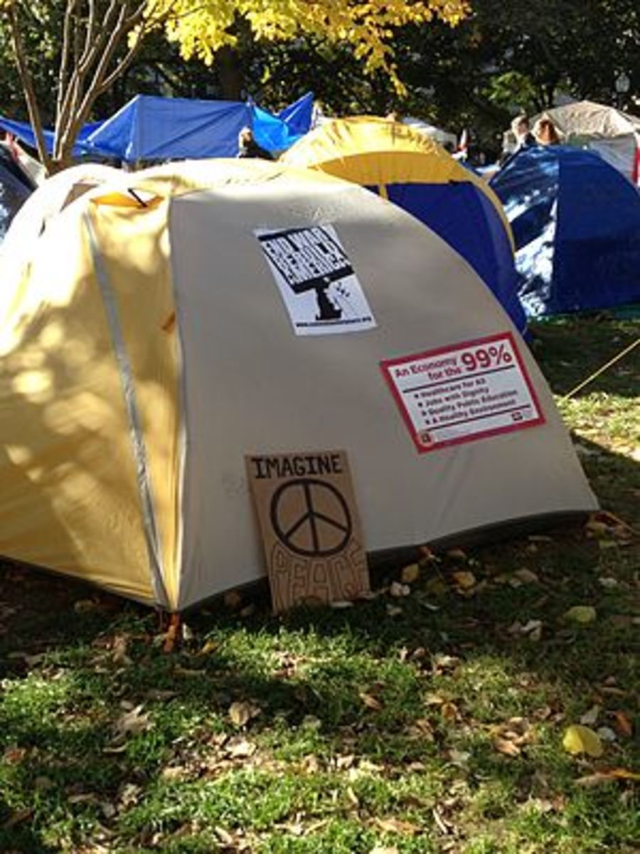 English: Occupy Washington D.C. at McPherson S...