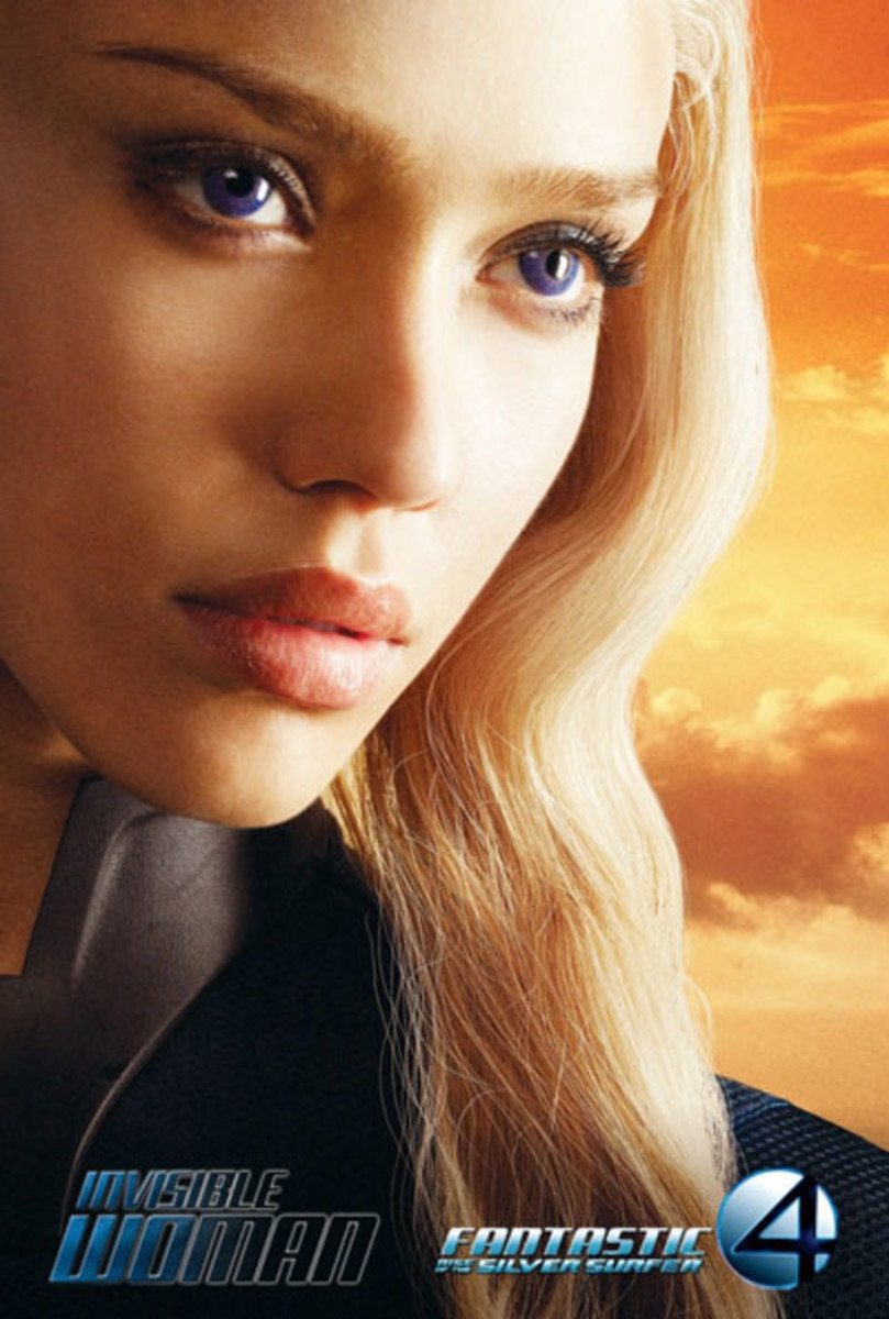 jessica alba in fantastic four 2: rise of the silver surfer
