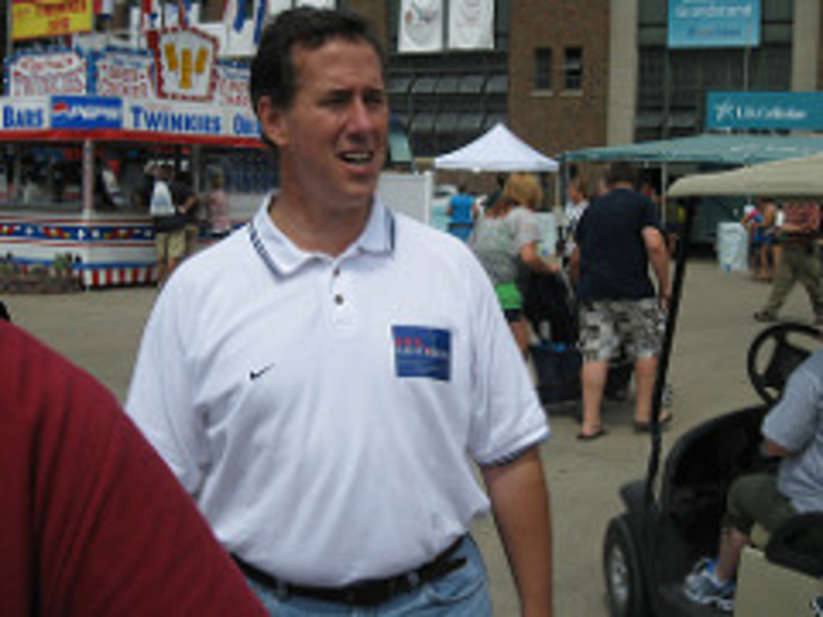 Santorum Drops By Iowa State Fair