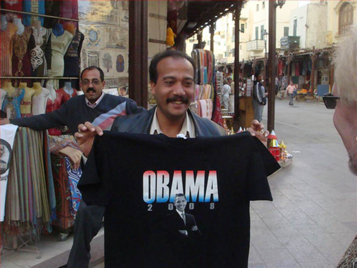 Obama is very popular in Egypt by Eric Sieverling.