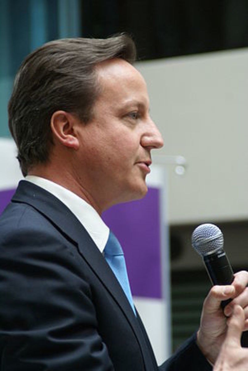 English: Prime Minister David Cameron speaking...