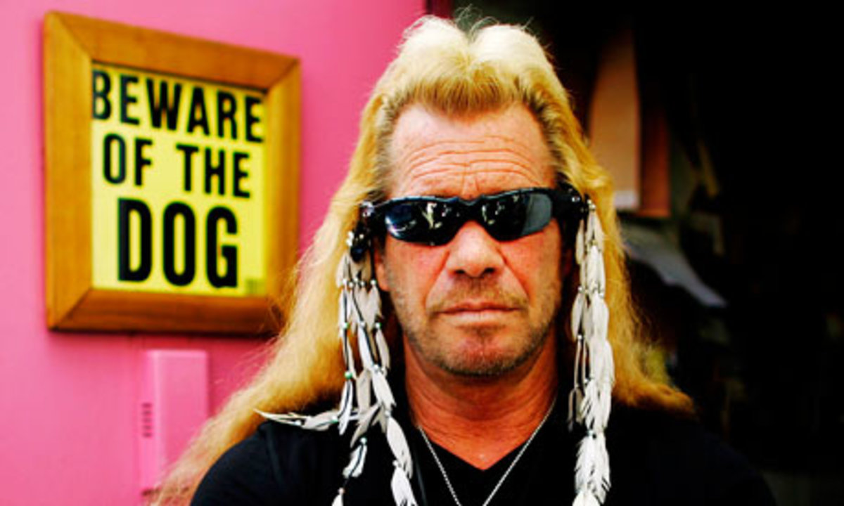 Duane 'Dog' Chapman in his office in Ho
