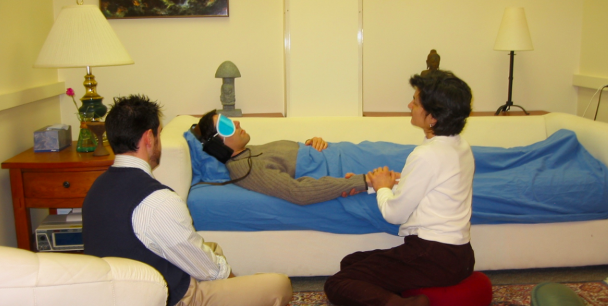 A therapeutic psilocybin session at Johns Hopkins university